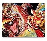MSD Natural Rubber Mousepad IMAGE ID: 30807081 Ogoh Ogoh Monster at Balinese New Year Parade NYEPI Ubud Bali