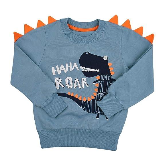465596b485fc Tkria Little Kids Boys Dinosaur T-Shirt Sweatshirt Pullover Clothing ...