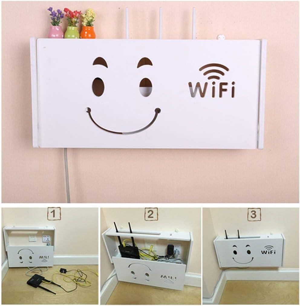 HLCUI Scaffali per Router WiFi A Filo Punch-Free,A