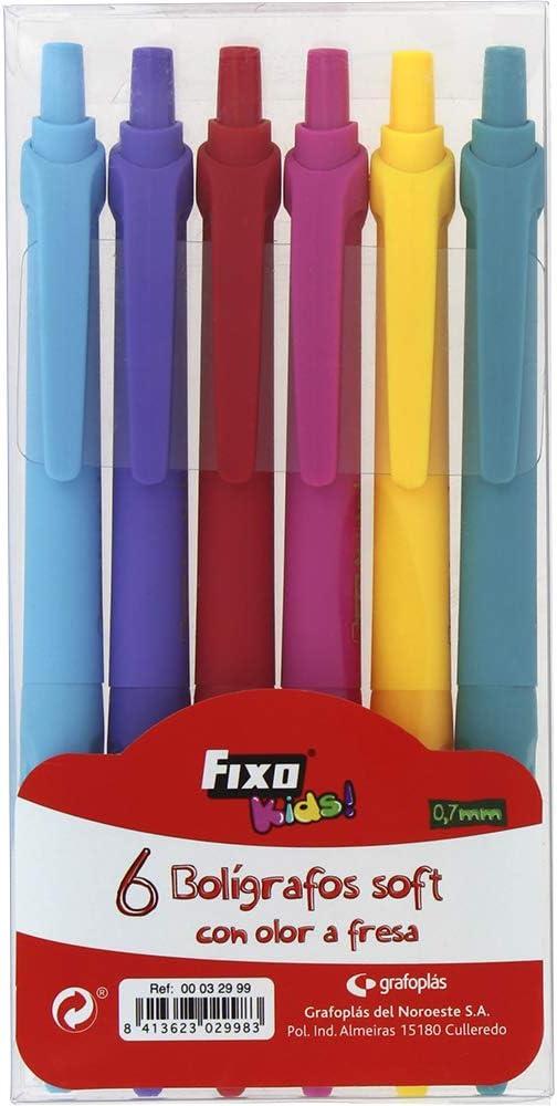 Fixo Pack de 6 Boligrafos Soft con Olor. De Colores, surtido ...