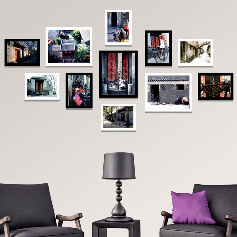 Photo Wall, Alley Decoration Painting, Black And White Photo Wall, Living Room Modern Box Painting, Restaurant Painting, Hotel Murals ( Color : 2# , Size : 14075cm )
