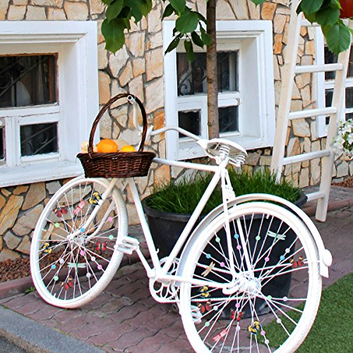 WINOMO Set of Bicycle Decor Bike Bicycle 108pcs Wheel Spoke Beads Luminous Plastic Round Spoke Bead 30pcs Butterflies Clips 6pcs Dragonflies Clips by WINOMO (Image #5)