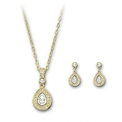 9ca0b03ed Image Unavailable. Image not available for. Color: Swarovski Sensation Set,  gold-plated