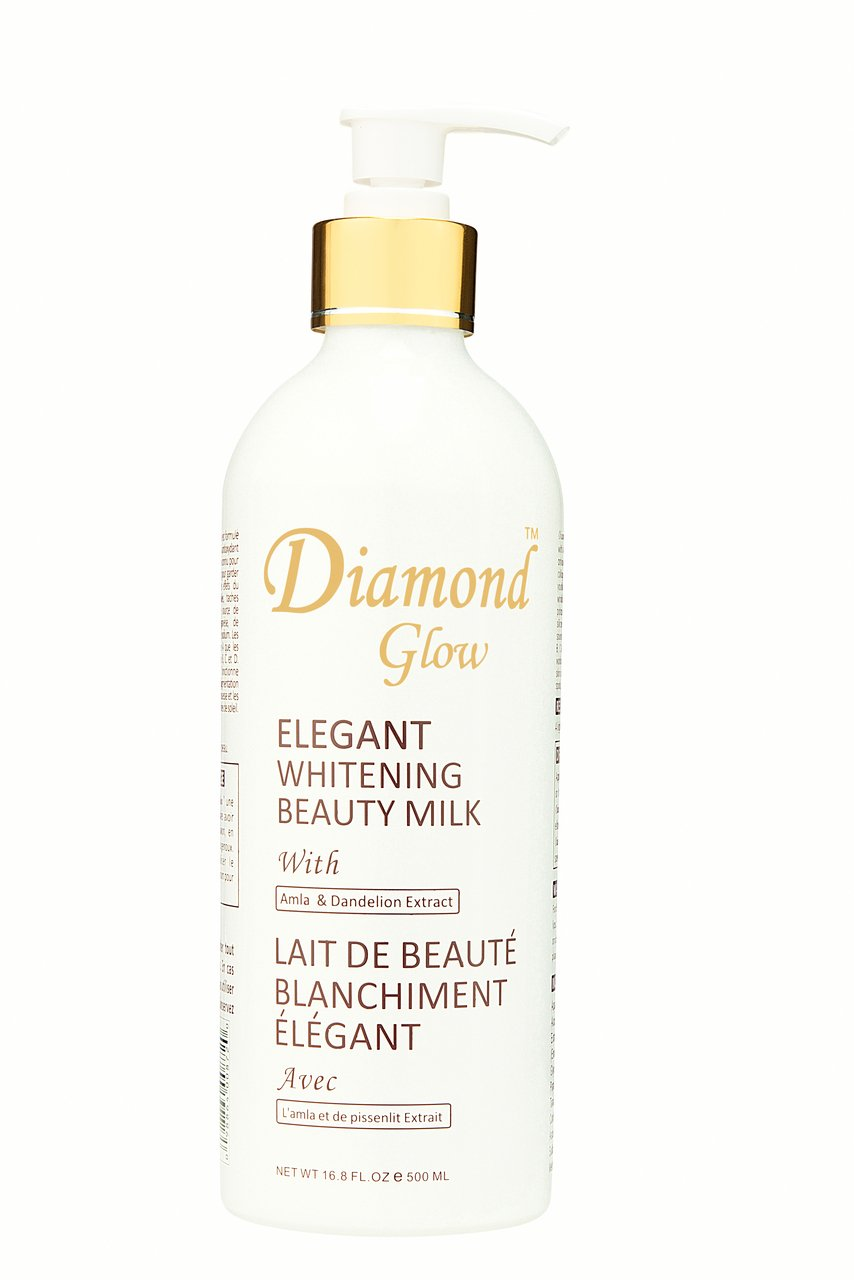 Diamond Glow Elegant Whitening Beauty Milk with Amla & Dandelion 500ml