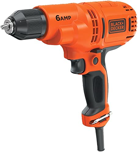 BLACK DECKER Corded Drill, 6.0-Amp, 3 8-Inch DR340C