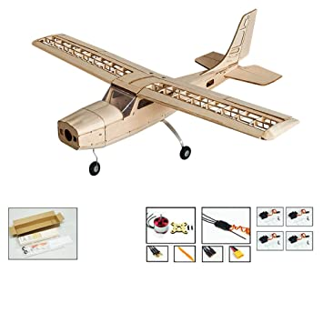 DW Hobby S16 Balsa wood Electric Training Airplane CESSNA 150 Kit