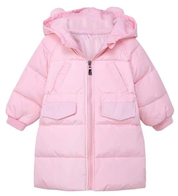 cb81c7417 Happy Cherry Girl Winter Down Coat Windproof Puff Hoodie Jacket Outerwear  with Ear for 1-6T