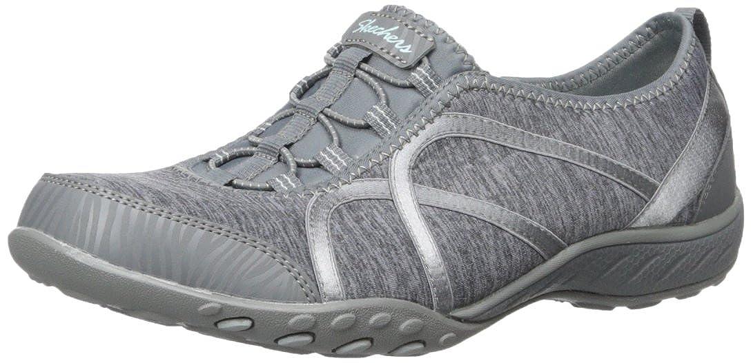 Charcoal Skechers Women's Breathe-Easy - FORTUNEKNIT shoes