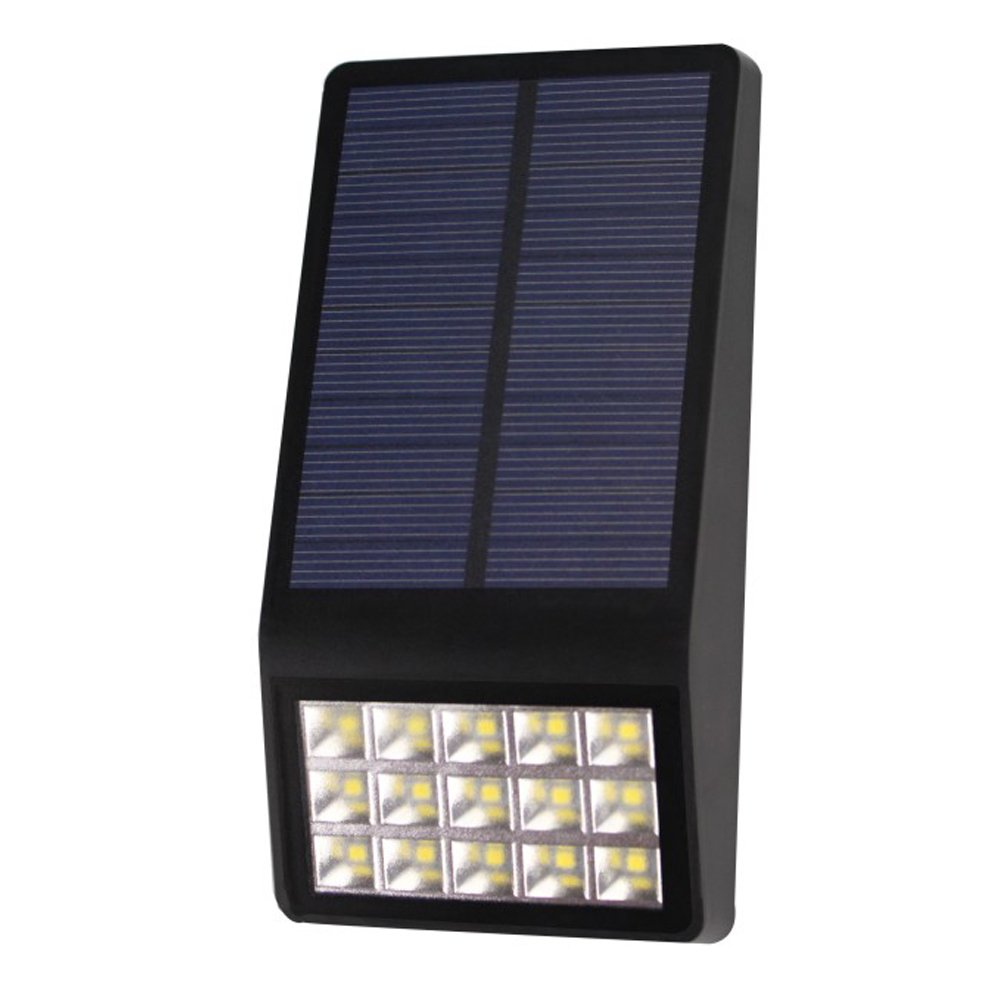 Outdoor Solar Walllamp Large Area of Solar Energy Waterproof Led Wall Light 3 Modes for Night Emergency by YULAN