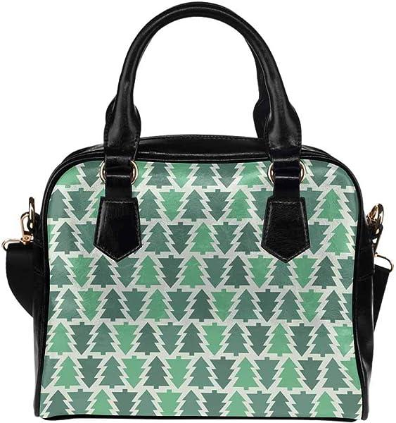45f8c52fc818 Christmas Tree Women's PU Leather Purse Handbag Shoulder Bag ...