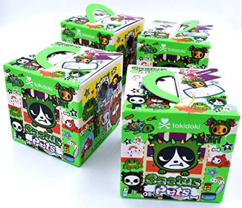 Set Of 4 Blind Boxes: Cactus Pets Vinyl Mini Figure By Tokidoki (Cactus Figure Vinyl Friends Tokidoki)