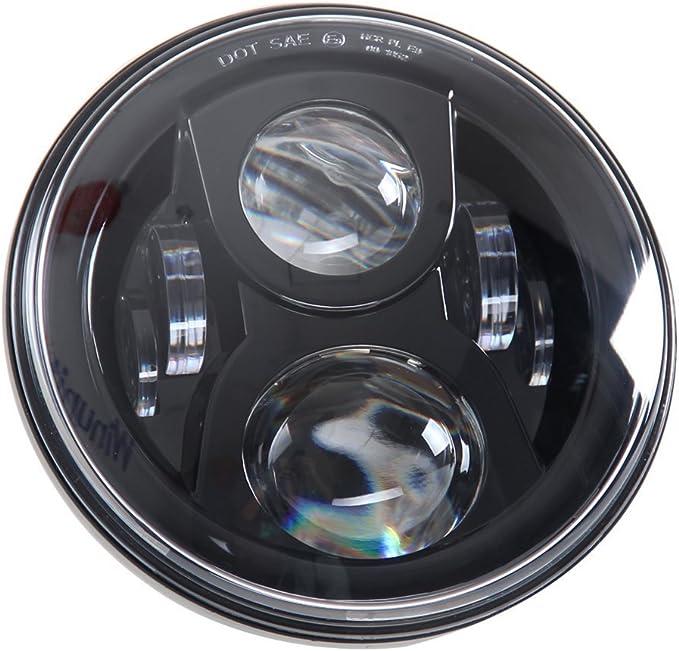 Motorradscheinwerfer Daymaker 17 8 Cm 75 W Rund Led Scheinwerfer Wasserdicht Leuchtmittel Für Harley Davidson Motorrad Und Jeep Wrangler Led Scheinwerfer Auto