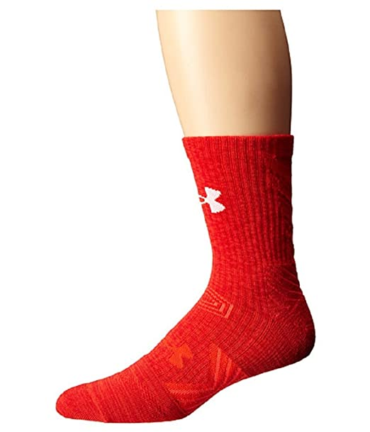 Under Armour Under Armour UA Innegable Twisted Mid Crew Rocket Calcetines rojos / rojos LG 10