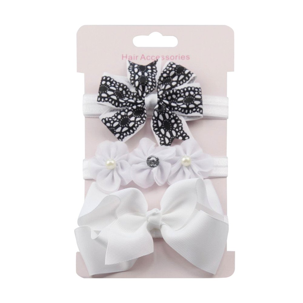 3Pcs Newborn Baby Hair Accessories Baby Girls Choose Suit Dress up Head Band Bownot Soft Head Elastic Band Floral Headband Cute Hairband Turban Head Wraps Sets