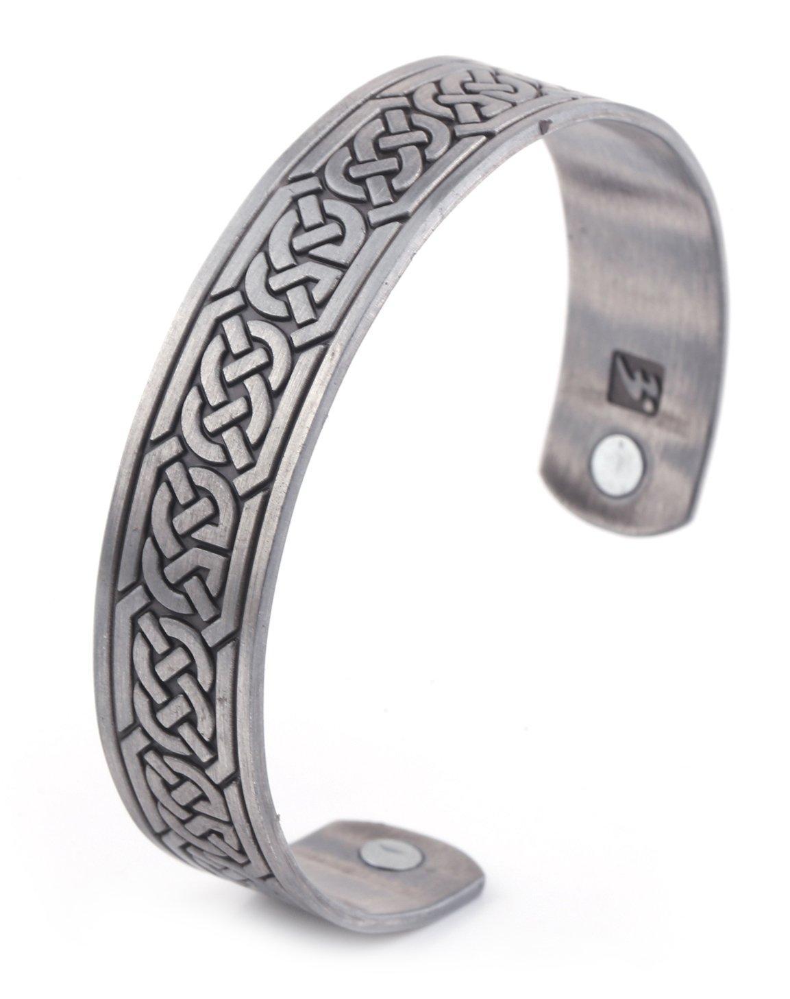 Atención de la salud pulsera magnética para alivio del dolor, terapia, equilibrio, resistencia y energía para los hombres y las mujeres YI WU KE JI