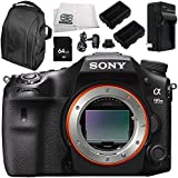 Sony Alpha A99 II ILCA99M2 A99II DSLR Camera (Body Only) 7PC Kit - Includes 64GB SD Memory Card + 2 Replacement Batteries + Carrying Case + MORE