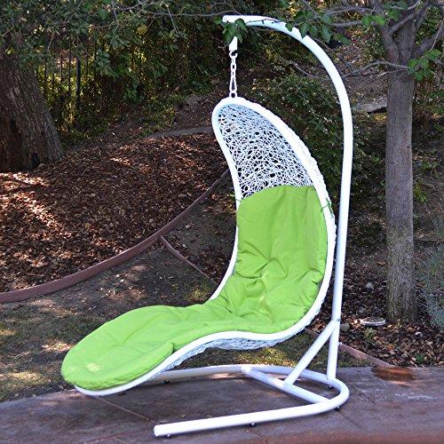 Enclave Lounge Swing Bed Chair Weaved Wicker Rattan Hammo...