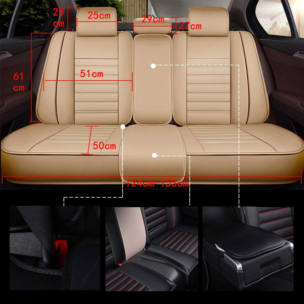 Housse de si/ège de voiture pour 5 places automobile pick up suv camion simili cuir si/ège protecteur voiture garniture int/érieure 5 couleurs