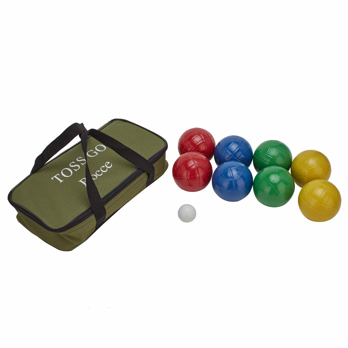 LAWN TIME Bocce Set - Recreational Plastic 90mm Bocce Ball Set with Carrier Bag - Classic Outdoor Toss Game by LAWN TIME (Image #2)