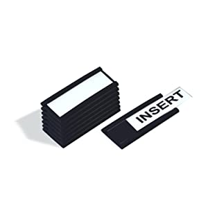 MasterVision FM1310 Magnetic Data Card Holders, 1 x 2 Inches, Black, Pack of 25 Holders