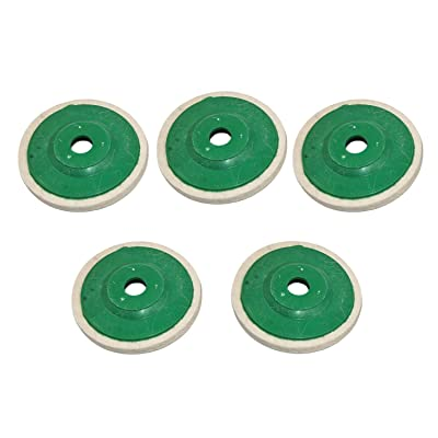 Geesatis 5 PCS Wool Buffing Wheel Pads Polishing Wool Wheel with Cover Mirror Polishing Felt 4 Inch: Home Improvement