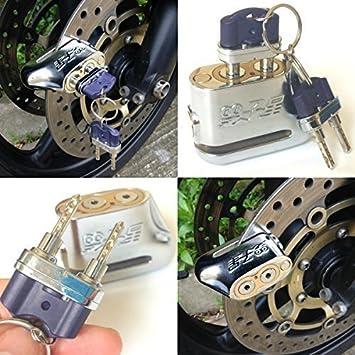 gegen Diebstahl Dual Schl/üssel Motorrad Roller Moped Disc Brake Lock Unpickable