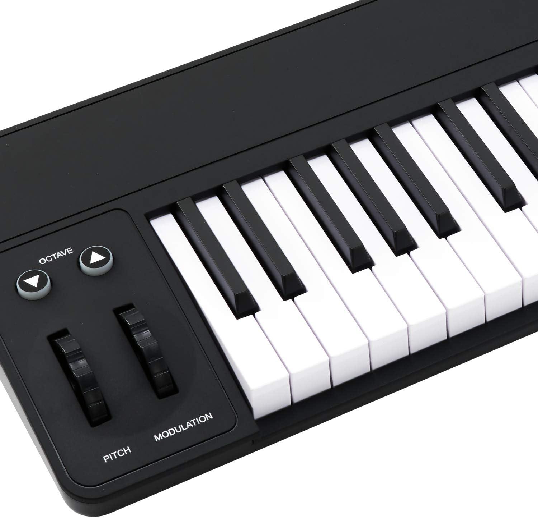 Teclado controlador MIDIPLUS AK490+ semi-contrapesado USB MIDI