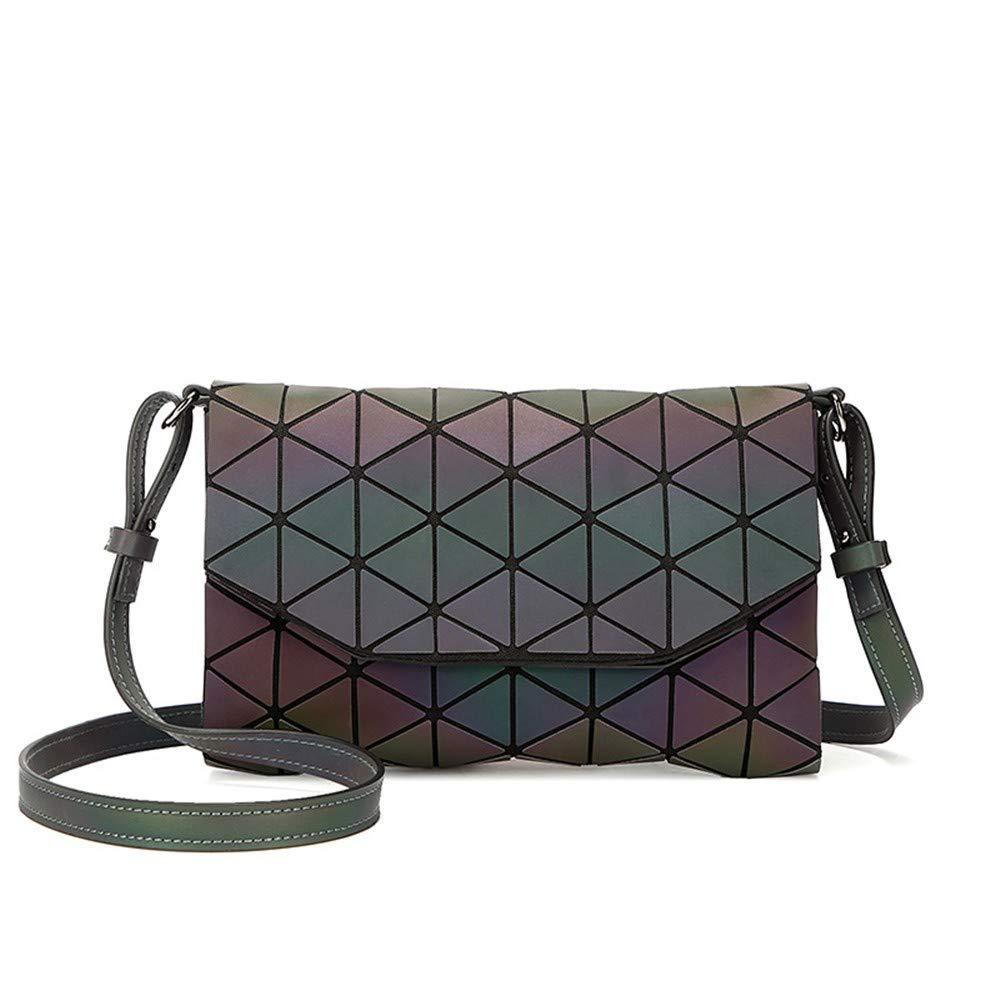 ZWS excelente Diamond Solo Bolso De Hombro Bolsa De Cuadrados Geometricos Luminosa Geomé trica - Lady 'S Shoulder Bag - Bolsa De Luminoso