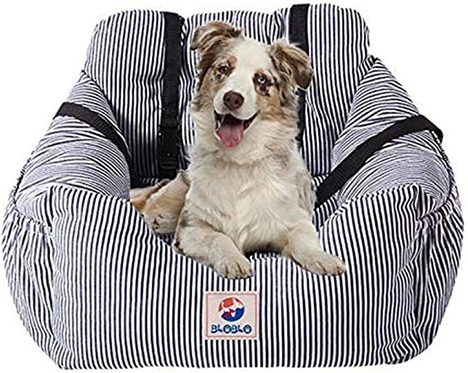 CALISTOUK Dog Car Seat Cover Portable Pet Dog Booster Seat for Front and Back Seat Durable Washable Travel Bags for Dogs//Cats