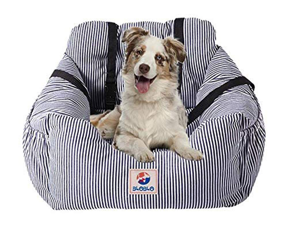 BLOBLO Dog Car Seat Pet Booster Seat Pet Travel Safety Car Seat Dog Bed for Car with Storage Pocket by BLOBLO