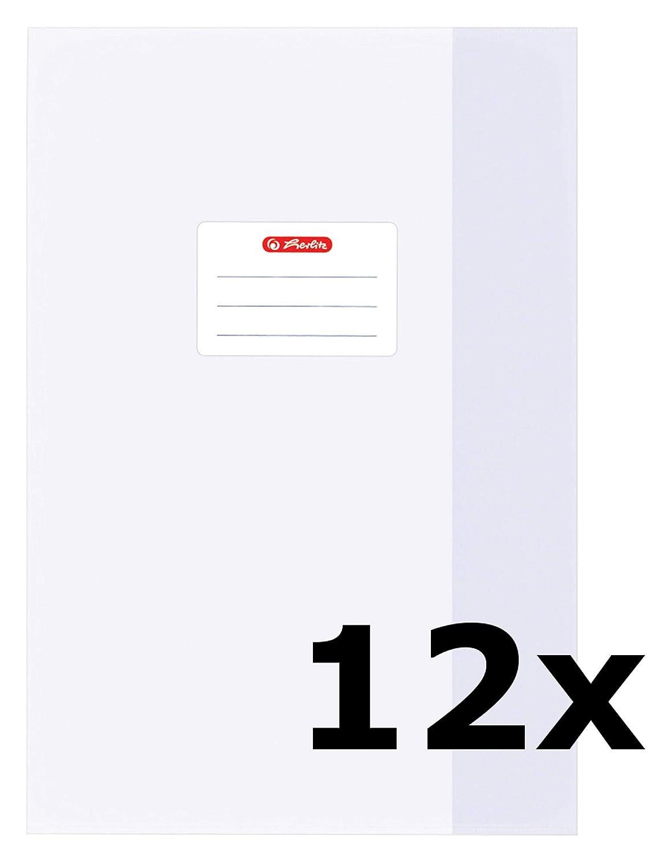 Braun, 5er Pack | A4 Herlitz 5 Heftumschl/äge//Hefth/üllen Din A4 Baststruktur