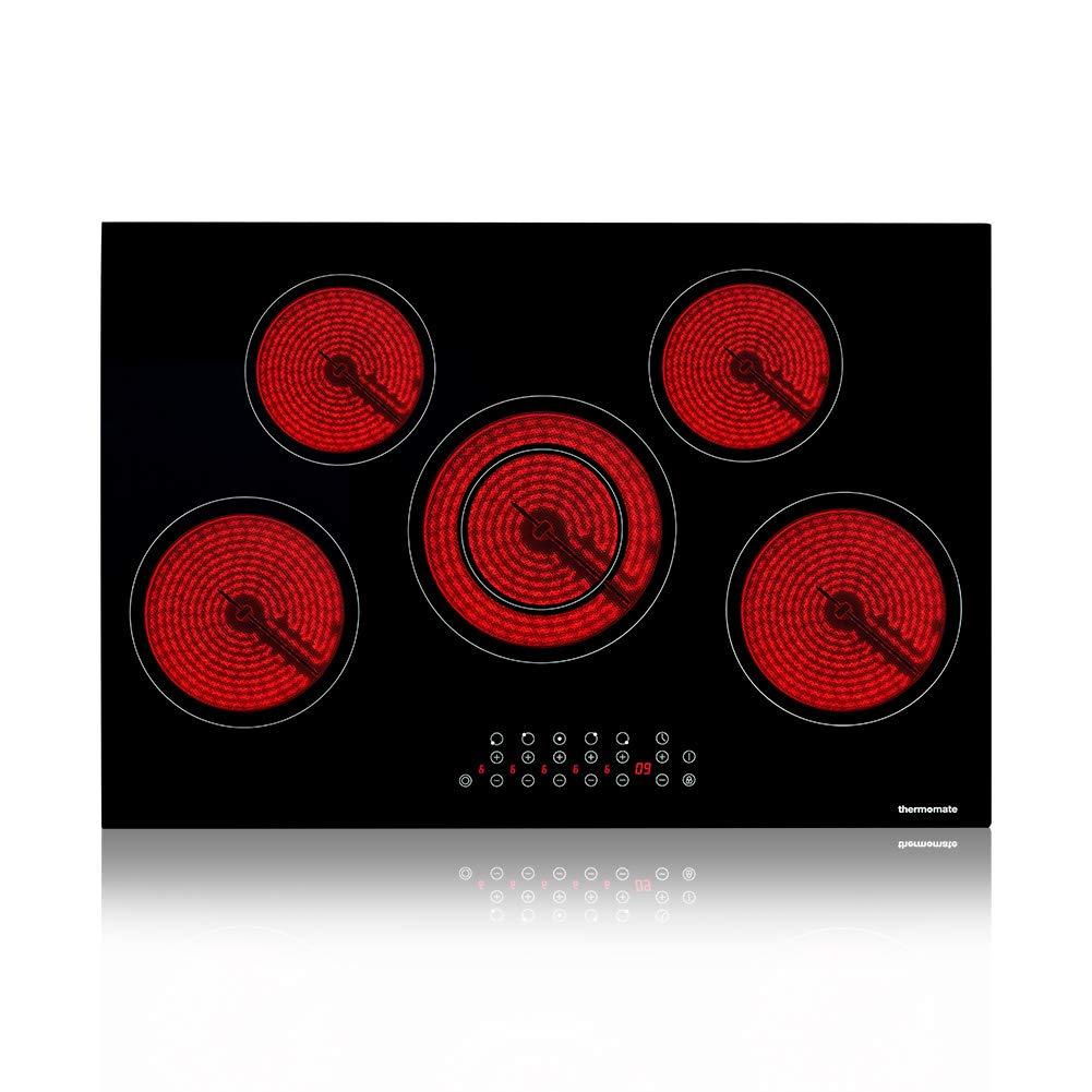 thermomate 30 Inch Built-in Electric Stove, 220V Vitro Ceramic Surface Radiant Electric Cooktop