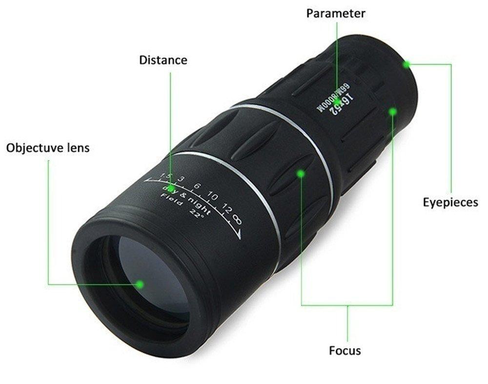 Hyl 16 x 52 dual focus zoom optisches objektiv fernglas monokular