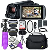 Canon VIXIA HF R800 Camcorder with Sandisk 64 GB SD Memory Card + 2.2x Telephoto Lens + 0.42x Wideangle Lens + Accessory Bundle