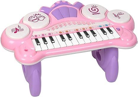 24 Teclas Juguete de Piano para niña,Teclado Piano de Cola ...
