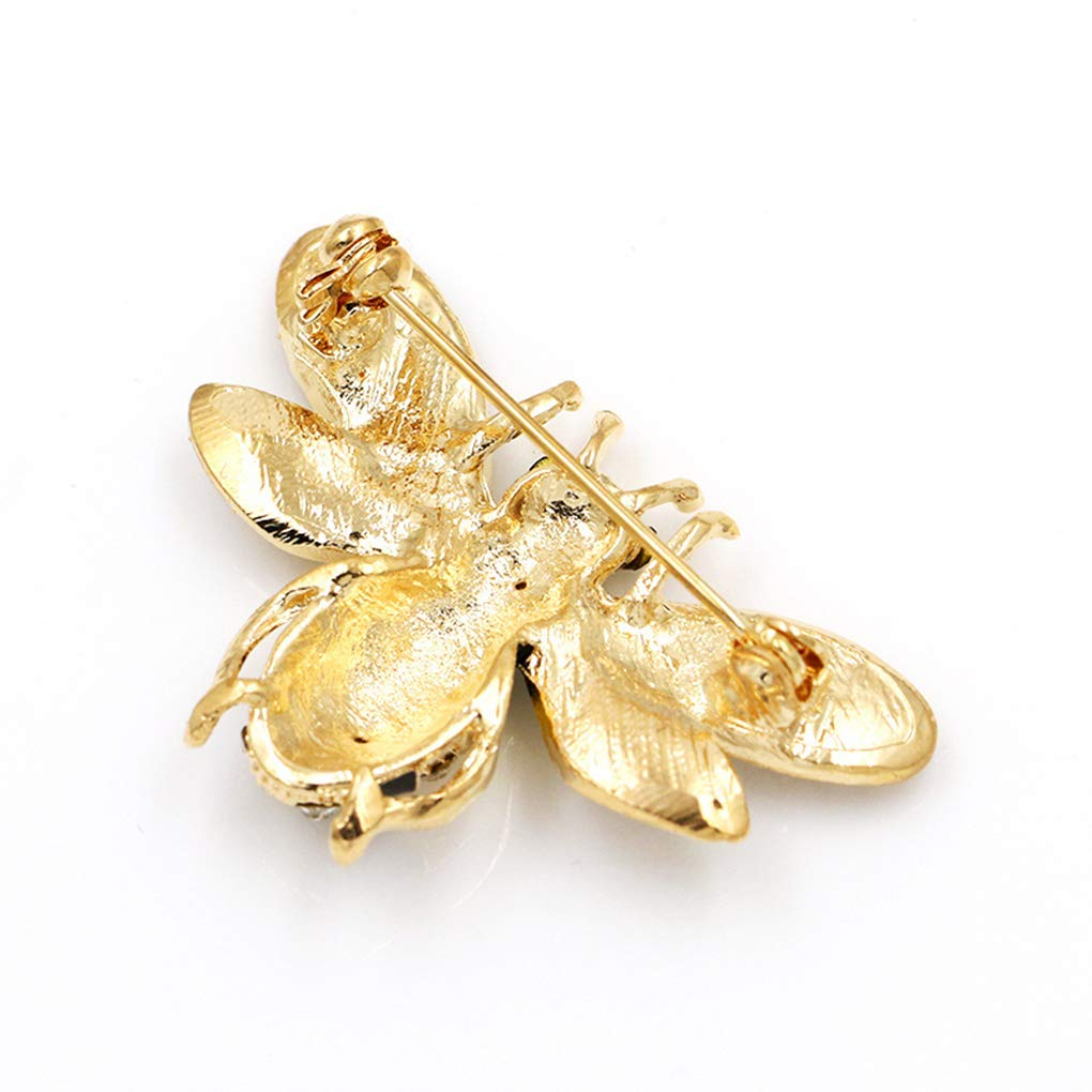 Beaums Women Crystal Bee Brooches Female Rhinestone Insect Scarf Clip Party Wedding Dress Bouquet Brooch