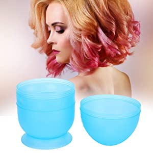 【Christmas Revels】Hair Dyeing Shaker Bowl, Professional Hair Dye Bowl, air Styling Tool Exquisite Stylist for Hairdresser Hair Salon Baber(blue)