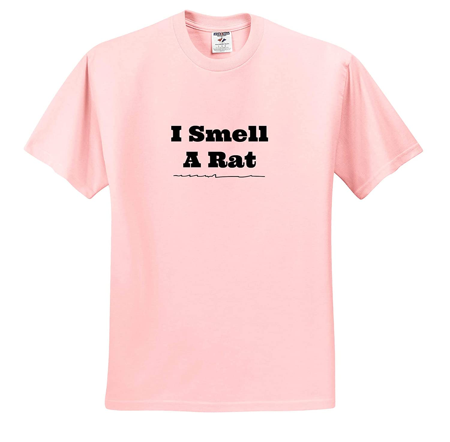 Adult T-Shirt XL ts/_315405 Image of I Smell A Rat 3dRose Carrie Merchant Quote