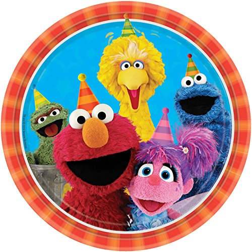 BirthdayExpress Sesame Street Party Supplies 48 Pack Lunch Plates