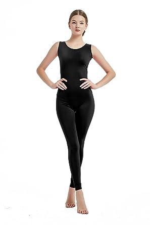 4c66c116b966 Amazon.com  Full Bodysuit Womens Sleeveless One Piece Jumpsuit Lycra Spandex  Zentai Unitard  Clothing