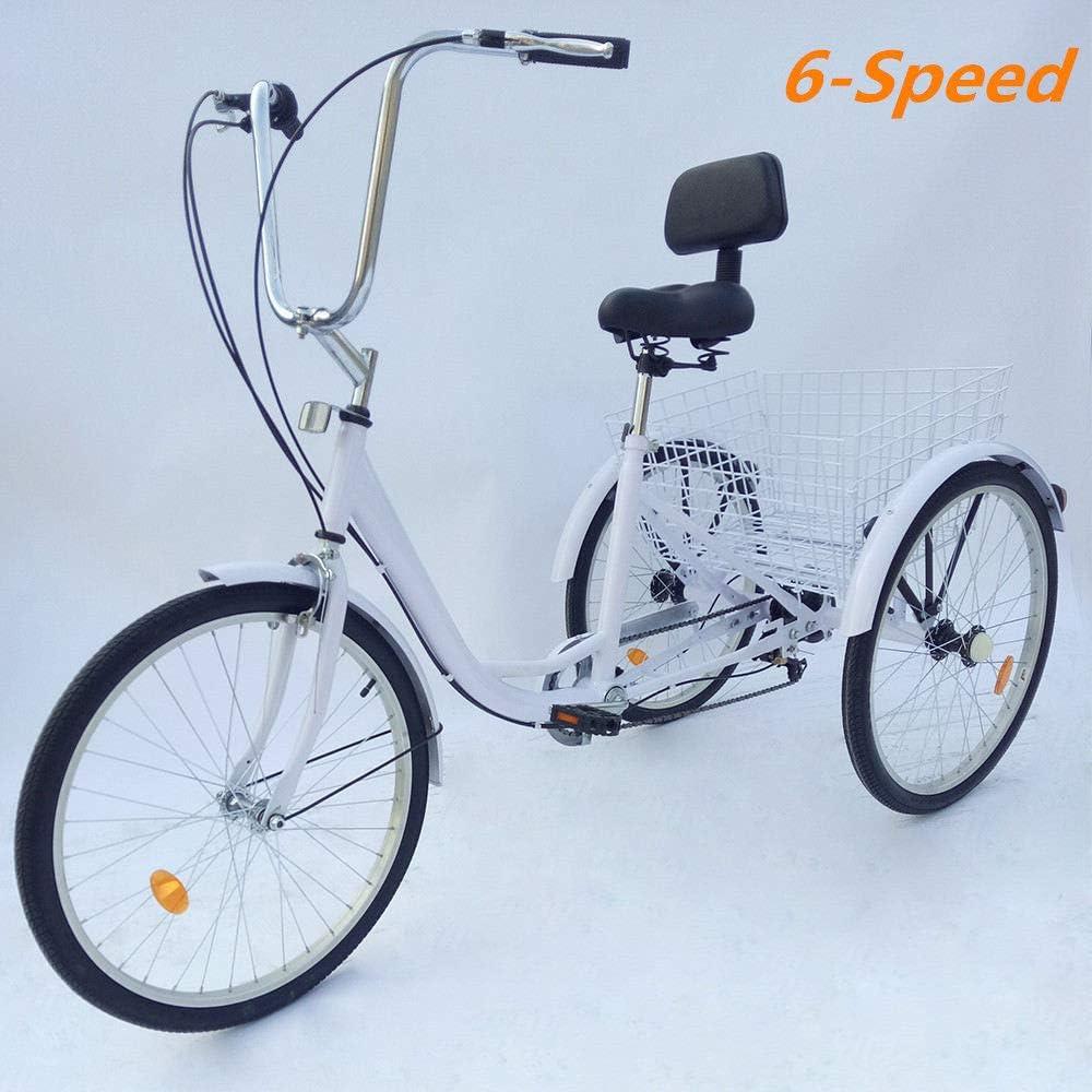 Senderpick - Bicicleta de pedales de 6 velocidades para adultos y ...