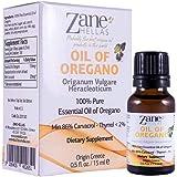 Zane Hellas 100% Undiluted Oregano Oil. Pure Greek Essential Oil of Oregano .86% Min Carvacrol. 129 mg Carvacrol Per Serving. Probably The Best Oregano Oil in The World. 0.5 fl. oz. - 15 ml