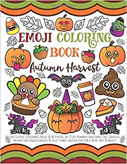 Emoji Coloring Book Autumn Harvest 30 Festive Coloring Pages