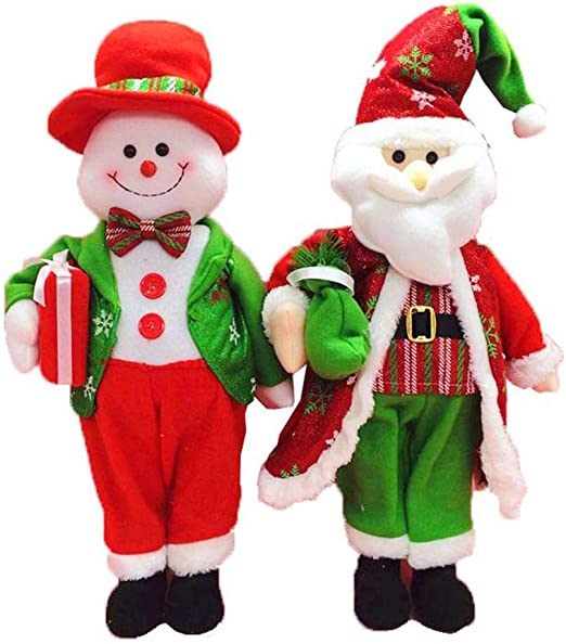 Large Santa Snowman Figurine Christmas Dolls Christmas Gifts Toys for Home Decor