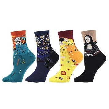 LILIKI@@ Calcetines De Moda Retro Calcetines Harajuku Novedad Algodón Mujeres Calcetines Divertidos