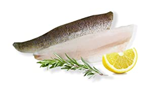 FinFish Direct Walleye Fish Fillets - Wild Caught North American Walleye - Chemical-Free Once Frozen Fresh Fish in an 11 lb Case with Pre-Portioned 6-8 oz Pieces