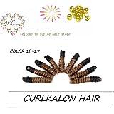 Spiral Crochet Hair Curls Crochet Braids Tapered Cut Each Box 20strands Curled Spirals Synthetic