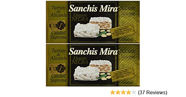 Sanchis Mira Turron de Alicante 200 grs. (7oz.) pack of 2: Amazon.com: Grocery & Gourmet Food