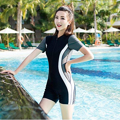 bagno da attillato manica 5xl professionale da bagno Costume Xiaoxiaozhang studente costume da slim costume bagno mezza conservatore wq6yZ0