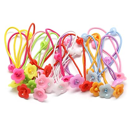 10X Children Girl Elastic Candy Head Hair CircleHair Rope Hair Ponytail HolderNL